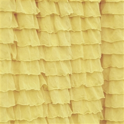 Lemon Chiffon 2 Inch Ruffle Fabric
