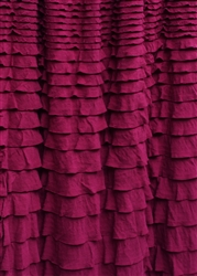 Deep Cranberry Crescendo Ruffle Fabric