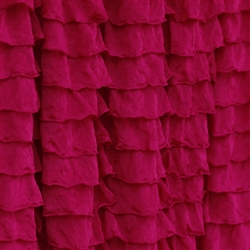 Garnet Red 2 Inch Ruffle Fabric