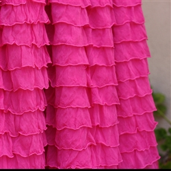 Hot Pink 2 Inch Ruffle Fabric