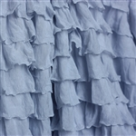 Ice Blue 2 Inch Ruffle Fabric