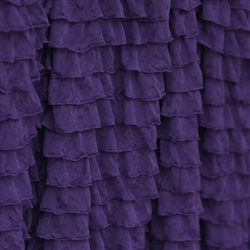 Deep Plum 2 Inch Ruffle Fabric