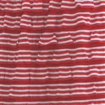 Red & Cream Nautical Stripe 2 Inch Ruffle Fabric