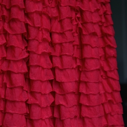 Scarlet Red 2 Inch Ruffle Fabric