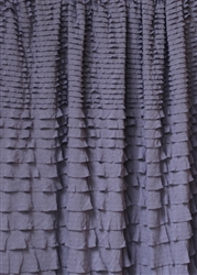 Shadow Gray Crescendo Ruffle Fabric