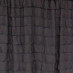 """Washed Black"" Boho Chic 2 Inch Ruffle Fabric"