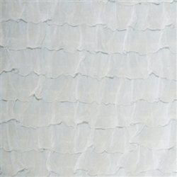 White 2 Inch Ruffle Fabric
