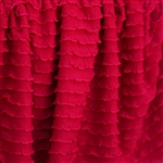 Hot Tamale Red Mini Ruffle Fabric