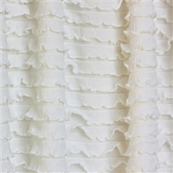 Ivory Mini Ruffle Fabric