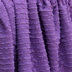 Lilac Purple Mini Ruffle Fabric