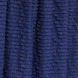 Navy Mini Ruffle Fabric