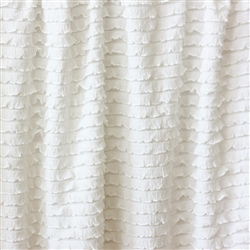 White Mini Ruffle Fabric