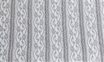 "Misty Gray ""Ruffles and Lace"" Ruffle Fabric"